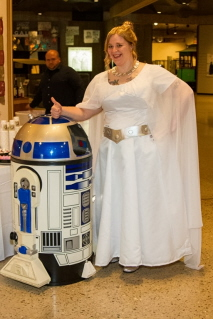 Elizabeth and R2D2